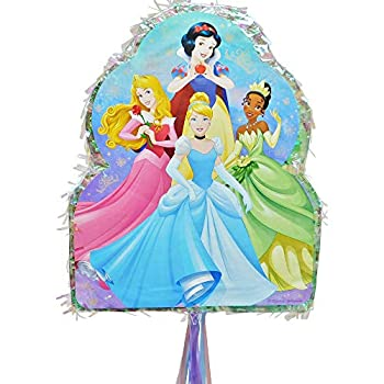 Party City Pull String Disney Princess Pinata Holds up to 2 Pounds of Filler with Jasmine Ariel Tiana and More
