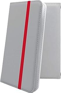 スマートフォンケース・Xperia J1 Compact D5788・互換 ケース 手帳型 グレー 灰色 おしゃれ エクスペリア コンパクト 手帳型スマートフォンケース・かっこいい XperiaJ1 ボーダー マルチストライプ