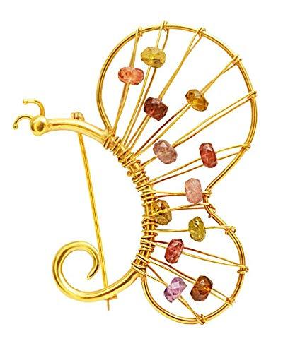 Brosche 18 Karat Gold mit Turmalinen SAVVIDIS