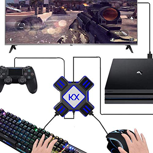 eLUUGIE Adaptador de teclado y ratón para Nintendo Switch/PS4/PS4 Pro/PS4 Slim/Xbox Onee/Xbox One S/Xbox One X/PS3/PS3 Slim