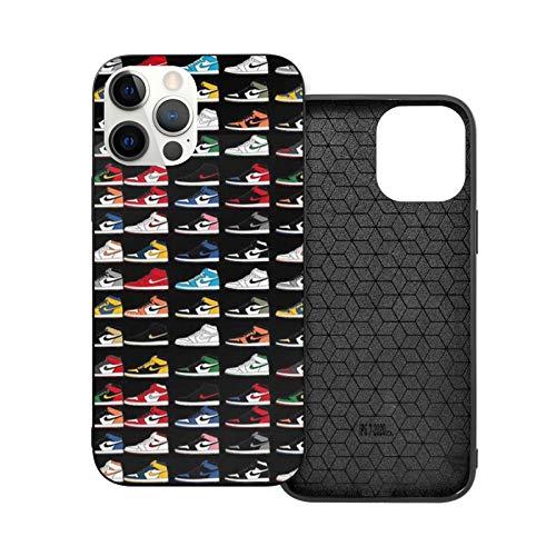 NGNHMFD Jordan 1 Og Sneaker Sneakerheads compatible con iPhone 11 Pro Max 12 Pro Max Mini SE 2020 6/6s 7/8 Plus X XS XR Funda Negro Teléfono Fundas