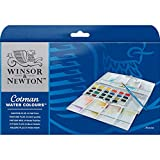 Winsor & Newton Cotman Watercolor Paint, Half Pans, Set of 24, 24 Count