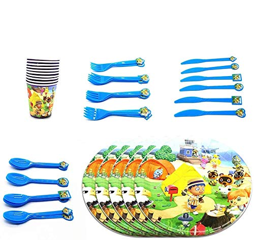 %10 OFF! Animal Crossing Birthday Party Supplies Party Decorations Party Favors for Kids,for 20 Gues...