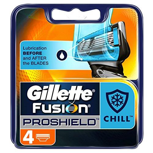 Gillette Fusion Proshield Chill - Lame per rasoio, confezione da 4 pezzi