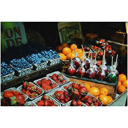 SANSHUI Jigsaw Puzzle Fruit Serie Mercado De Madera Home Entertainment Juego De Adultos Educación De Descompresión De Juguete 500-6000 Piezas 0323 (Size : 2000 Pieces)