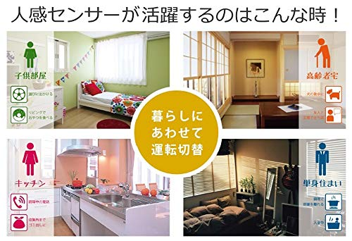 トヨトミ石油ファンヒーター(木造9畳まで/コンクリート12畳まで)人感センサー搭載日本製ホワイトLC-S330(W)