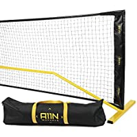 A11N Portable Pickleball Net System With Steady Metal Frame & Carrying Bag