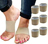 Plantar Fasciitis Brace Arch Supports - Arch Brace for Foot & Heel Pain Relief. Compression Sleeves Help Sore Heels, Bone Spurs, Flat Feet or High Arches Copper Infused Bands Plantar Fasciitis (Beige)