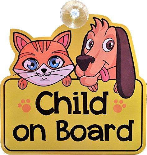 Autocollant Child on board (Enfant à bord) - Signe de voiture - Grand cadeau / cadeaux / présents / cadeaux pour le nouveau bébé, fille, garçon, enfants, vinyle