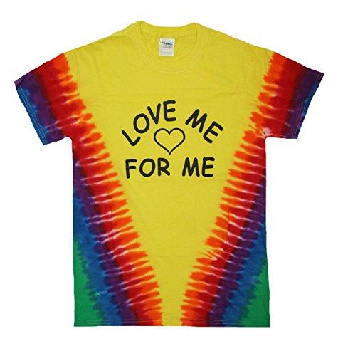 Gay Pride Adult Love Me for Me T-Shirt, LGBT Gay Lesbian Pride, Gay Accessories (2XL, Tye Dye/Love Me for Me)