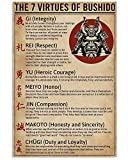 AZSTEEL The 7 Virtues of Bushido Samurai Vertical Poster