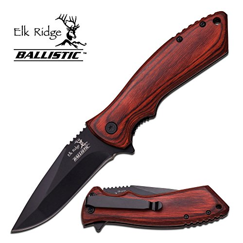 "8"" ELK RIDGE Wood Hunting SPRING ASSISTED OPEN Gentleman Folding POCKET KNIFE"