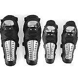 Rodilleras de acero inoxidable Protectores de rodilla de motocross Almohadillas protectoras de rodilla y codo de motocicleta 4 piezas
