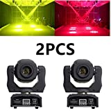 Stage Lights Moving Head Light 8 Gobos 8 Colors 11 Channels 2PCS 90W Spotlight DMX 512 with Sound Activated for Wedding DJ Party Stage Lighting