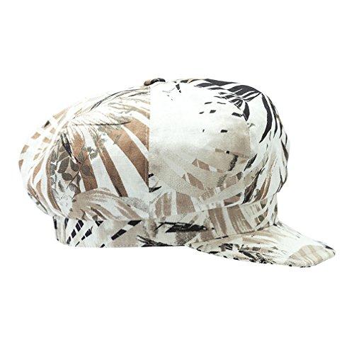 Unbekannt Unbekannt Damen - Ballonmütze Damenkappe Schirmmütze Sommermütze - 233555 (Braun, 55 cm)