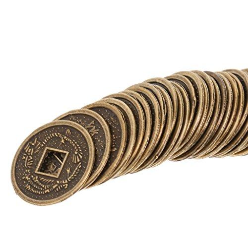 Sistema de 50pcs Monedas de Aleación de China Tradicionales Feng Shui I-Ching Recuerdo 2cm