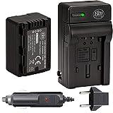 BM Premium VW-VBK180 Battery and Charger for Panasonic HC-V10 HC-V100 HC-V500 HC-V600M HC-V700 HDC-HS40 HS40K HS60 HS60K HS80 HS80K SDR-T76 Camcorders