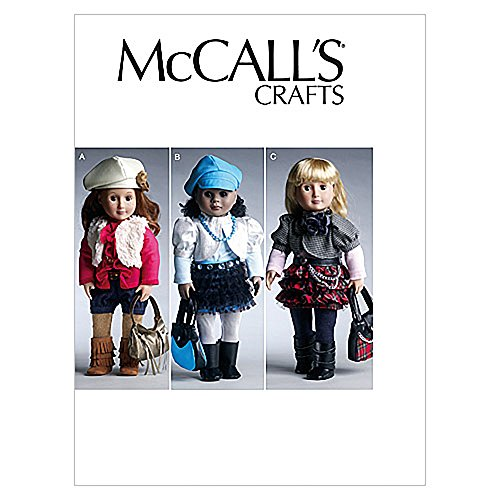 """McCall's Patterns M6480 18"""" (46cm) Doll Clothes and Accessories, One Size Only"""