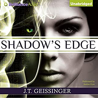 Shadow's Edge     Night Prowler, Book 1              By:                                                                                                                                 J. T. Geissinger                               Narrated by:                                                                                                                                 Justine Eyre                      Length: 11 hrs and 25 mins     819 ratings     Overall 4.1
