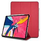 TECHGEAR® Smart Coque pour iPad Pro 12.9 2018, [Compatible Pencil] Coque Smart Case Stand Trois-Pli...