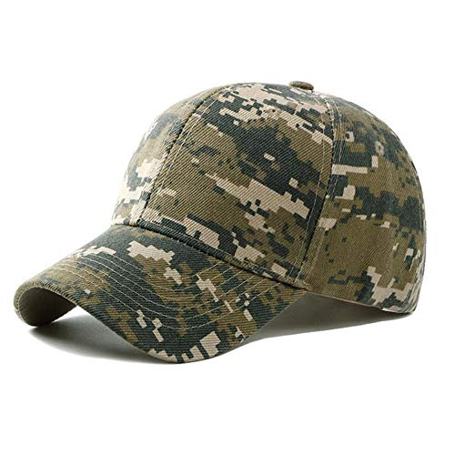 GAOXUQIANG Unisex Armee Tarnung Camo Cap Casquette Hut Baseball Cap Männer Frauen Casual Wüstenhut,1,L