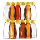 Empty Plastic Honey Bottles – Clear Plastic Honey Jars - PET Food Grade Plastic Honey Container...