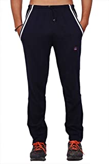 VIMAL Mens Cotton Trackpants with Double Piping
