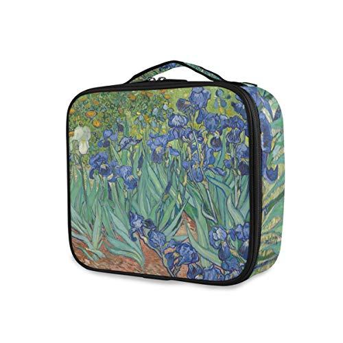 Maquillage Sac Art Peinture Jardin Fleur Voyage De Stockage Portable Outils Cosmétique Train Case Trousse De Toilette Organisateur