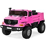 Best Choice Products Kids 24V 2-Seater Ride On Car SUV Truck w/ 3.7 MPH Max, Lights, AUX Port, Sounds - Pink
