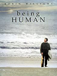 Promotional image for Being Human showing Robin Williams walking on a beach