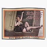 Stockings Retro Ww2 Bonds Girl Vintage Pinup Up War Home Decor Wall Art Print Poster !...