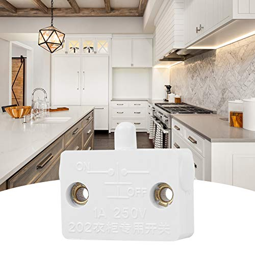 Interruptor de luz, Fácil instalación Resistencia al desgaste Accesorio industrial de alto rendimiento, Armarios para guardarropas