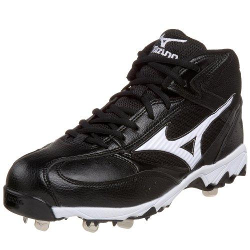 Mizuno Herren 9 Spike Vintage G5 Mid Baseball Cleat, Schwarz (schwarz / weiß), 41 EU