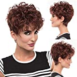 LCNING Wig Wigs Human Hair Pixie Cut Wigs for Women Premium Duby Human Hair Wig Short Straight Pixie Wigs Women Girl Cut Wigs Daily Use Full Wigs for Daily Party