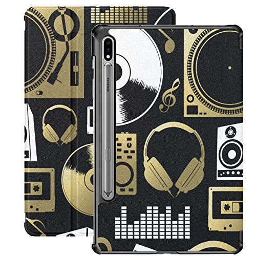 Vintage Music Icons Funda Samsung Galaxy Tab S7 Plus para Samsung Galaxy Tab S7 / s7 Plus Funda Samsung Galaxy Tab S7 Plus con Soporte Funda Trasera Galaxy S7 Plus Funda