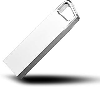 JIKT USBメモりストレージ3年保証256GB, シルバー USB3.0 高速データ転送 亜鉛合金製 防塵 耐圧(256GB)-F