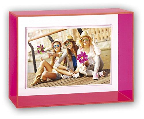 ZEP b146p Collection acryl neon fotolijst roze/wit 10 x 15 cm