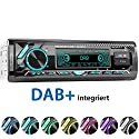 XOMAX XM-RD276 Autoradio mit DAB+ Tuner und Antenne I FM RDS I Bluetooth Freisprecheinrichtung I USB, SD, Aux I 7 Farben I 1 DIN