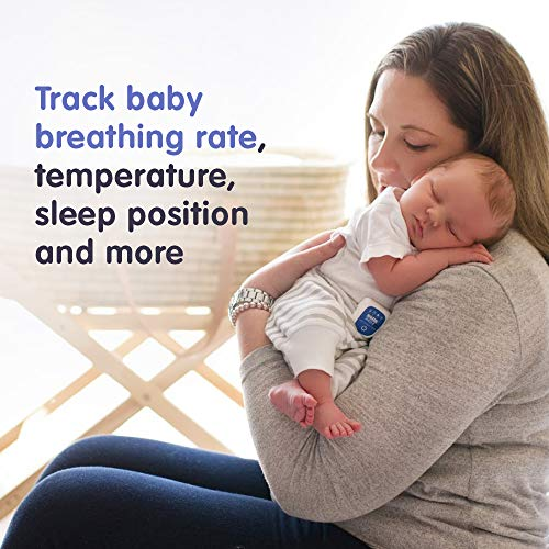 Snuza Pico 2 Smart Baby Movement Monitor with Mobile App - Works Anywhere with or Without Your Phone to Track Breathing Motion, Body Position and Skin Temperature with Real-time alerts