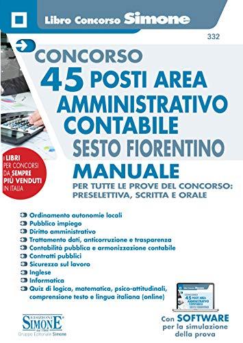 Concorso 45 posti Area Amministrativo Contabile Sesto Fiorentino - Manuale