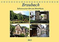 Braubach - Sehenswerter Ort am Mittelrhein (Tischkalender 2022 DIN A5 quer): Kleiner historischer Ort am Mittelrhein (Monatskalender, 14 Seiten )