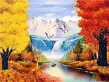 5D pintura de diamantes montaña de nieve bordado de diamantes de imitación mosaico lago paisaje punto de cruz decoración del hogar kit de arte de diamantes A2 50x70cm