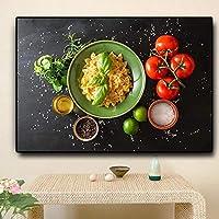 KDSMFA穀物スパイス果物野菜キッチン料理絵画ポスターとプリントクアドロスウォールアートフード写真リビングルーム/ 23x31インチ(フレームなし)