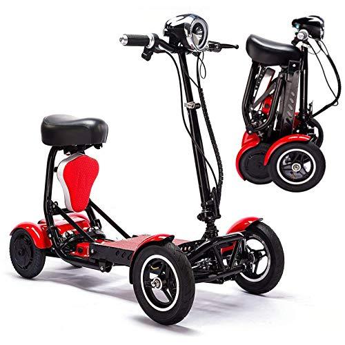 ZHHWYP Plegable eléctrico Scooter, Ligero Silla de Ruedas eléctrica Handicap Scooter Dual...