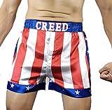 Creed Rocky Men's Apollo Johnson Movie Boxing American Flag Shorts Trunks Boxers (M)