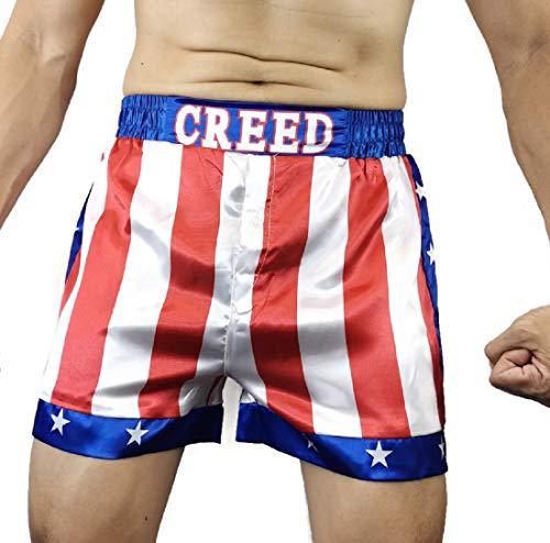 Creed Rocky Herren Boxershorts mit amerikanischer Flagge, Motiv: Apollo Johnson - - Medium