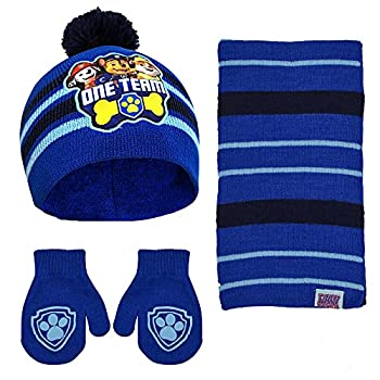 Nickelodeon boys Paw Patrol Scarf and Gloves Or Mitten Set for Toddler Little Cold Weather Hat Blue Mitten Set 2-4T US
