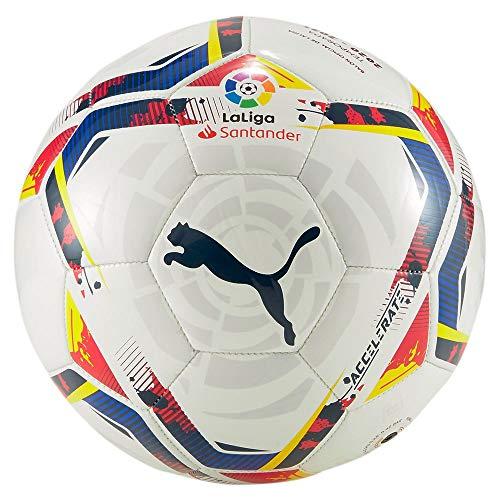 PUMA Unisex-Adult LaLiga 1 Accelerate Mini Ball Fußball, White-Multi Colour