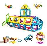 Condis Magnetische Bausteine 95 Teile, Magnetspielzeug Magnete Kinder Magnetbausteine Magnet Spielzeug Magnetspiele Kinderspielzeug Puzzle Geschenke Kinderspiele ab 2 3 4 5 6 7 Jahren Jungen Mädchen