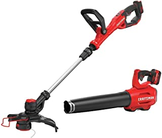 CRAFTSMAN V20 String Trimmer and Blower Combo Kit (CMCK297M1)